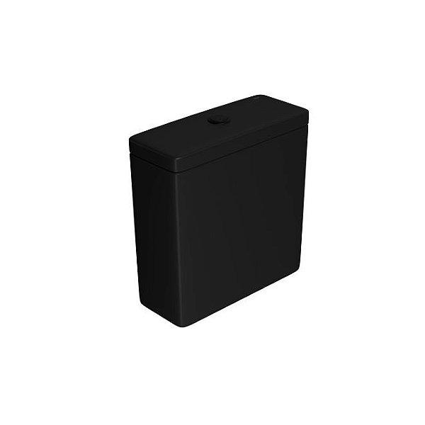 Caixa Acoplada com Acionamento Duo Piano/Polo/Quadra CD.21F.BL.MT.94 Ébano Fosco/Black Matte Deca