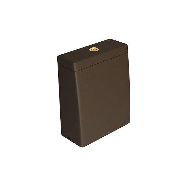 Caixa Acoplada com Acionamento Duo Lk CD.23F.GL.22 Marrom Fosco/Gold Deca