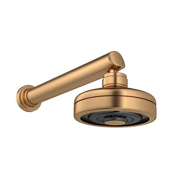 Chuveiro com Tubo de Parede Acqua Plus 1990.GL.CT.MT Gold Matte Deca