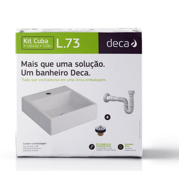 Kit Cuba com Complementares KL.73.2.17 Branco Deca