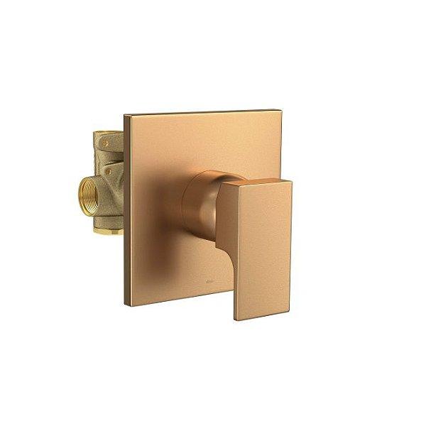 Misturador Monocomando de Chuveiro para Baixa e Alta Pressão Unic 2993.GL90.034.MT Gold Matte Deca
