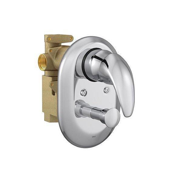 Misturador Monocomando 4 Vias de Chuveiro com Desviador para Banheira Smart 2994.C71 Deca