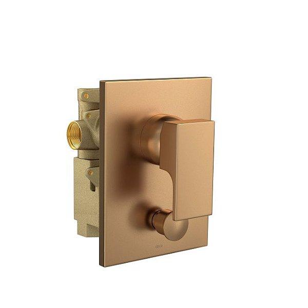 Misturador Monocomando 4 Vias de Chuveiro com Desviador para Banheira Unic 2994.GL90.MT Gold Matte Deca