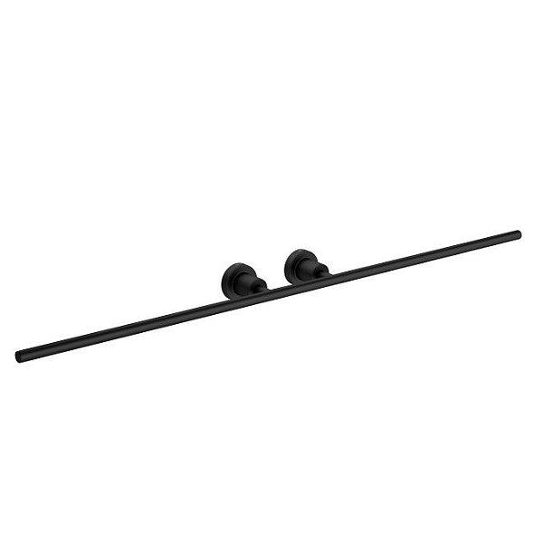 Porta Toalha com Barra Dupla Slim 2042.BL.SLM.MT Black Matte Deca
