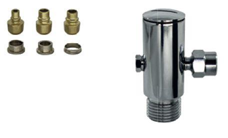 Adaptador Cromado para Filtro 1/2x1/2 com Regulador de Vazão e Bico Universal 1188 Roco