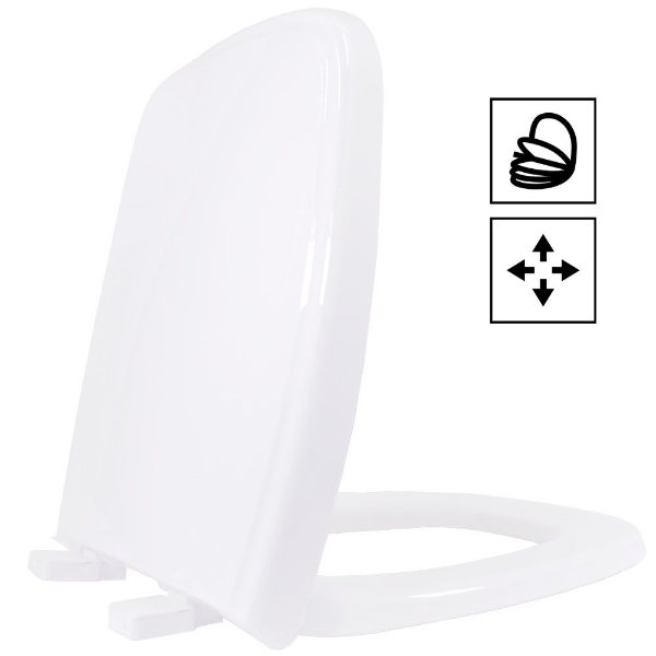 Assento Fit/Versato PP Soft Close Branco Tupan