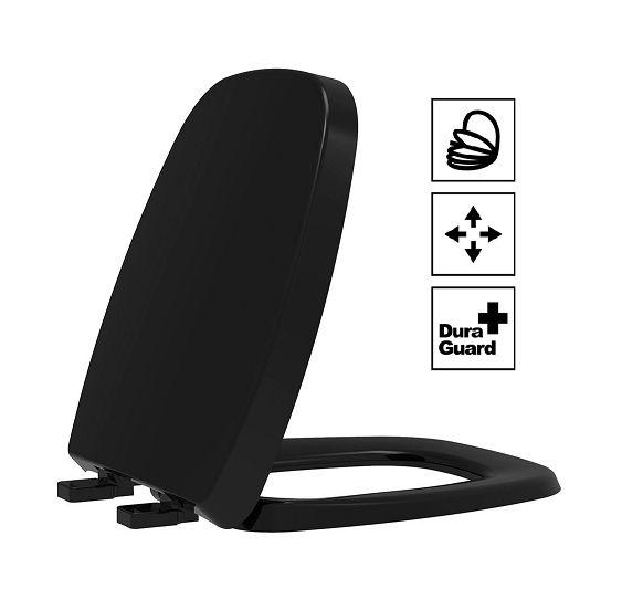 Assento Fit/Versato Termofixo Soft Close Preto Tupan