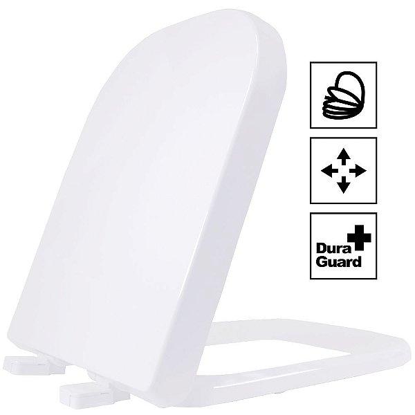 Assento Quadra Termofixo Soft Close Branco Tupan