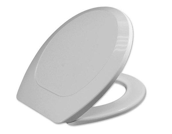 Assento Oval Universal PP Convencional Premium Cinza Prata Tupan