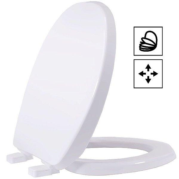 Assento Oval Universal Solution PP Soft Close Branco Tupan