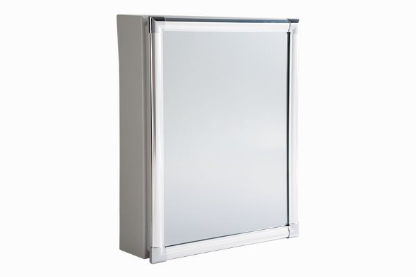 Armário Alumínio para Banheiro de Sobrepor 36x44x10cm Branco AL44 Astra