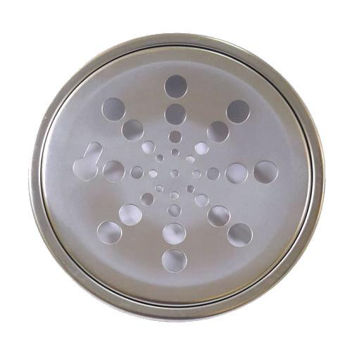 Grelha Redonda Inox com Caixilho Fixa 150mm Clarinox