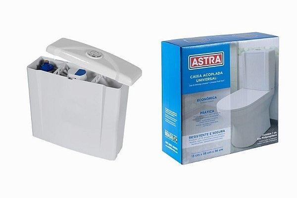 Caixa de Descarga Acoplada Universal Duplo Acionamento BR1 Astra