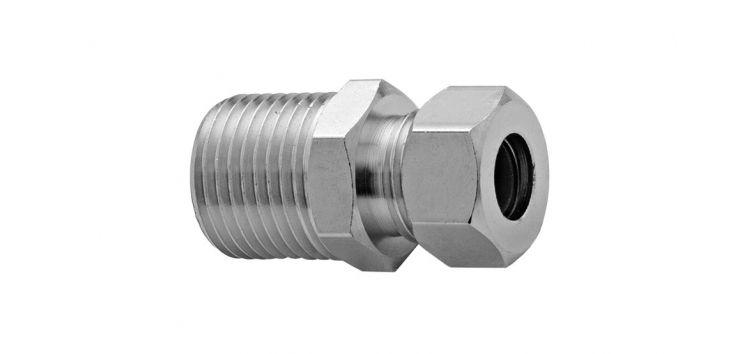 """Niple para Torneiras Monocomando com Ligação para Tubo de Cobre 1/2""""x3/8"""" 170901 Blukit"""