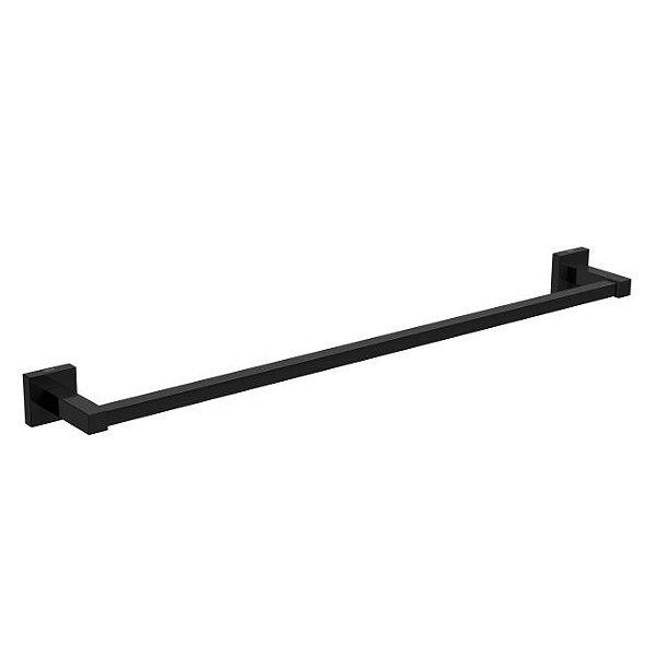 Porta Toalha Barra Quadratta 60cm 2040.BL83.NO Black Noir Deca