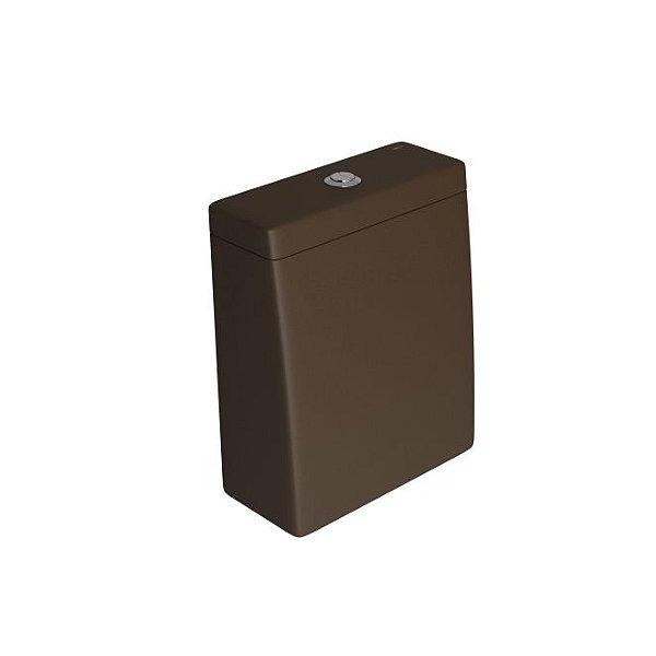 Caixa Acoplada com Acionamento Duo Lk CD.23F.22 Marrom Fosco/Cromado Deca