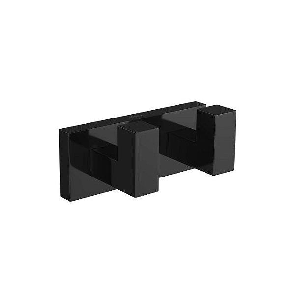 Cabide Duplo Quadratta 2062.BL83.NO Black Noir Deca