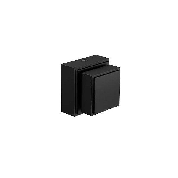 """Acabamento para Registro Gaveta 1/2"""" a 1"""" Quadra 4900.BL93.PQ.MT Black Matte Deca"""