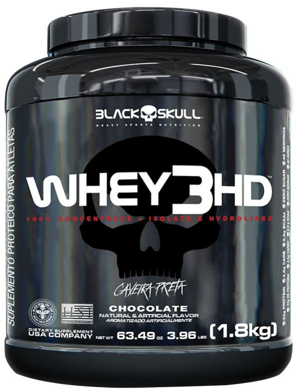 WHEY 3HD - BLACK SKULL - 1,8kg