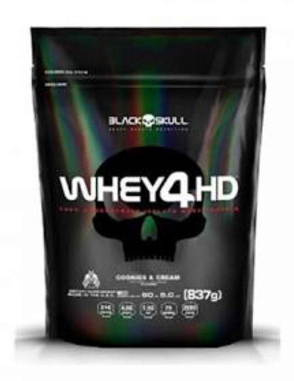 REFIL WHEY 4HD - COOKIES CREAM - 837G - BLACK SKULL