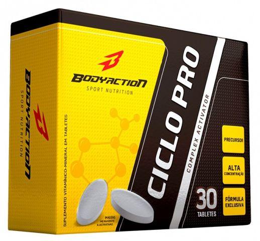 CICLO PRO - 30 TABLETES - BODY ACTION - ELEVAÇÃO NATURAL DE TESTOSTERONA