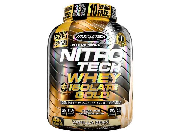 Whey Isolado Gold 913g  Nitro Tech