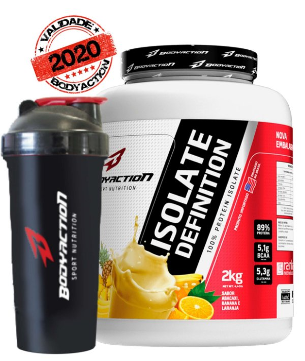 ISOLATE DEFINITION 2KG + COQ. BRINDE - BODY ACTION