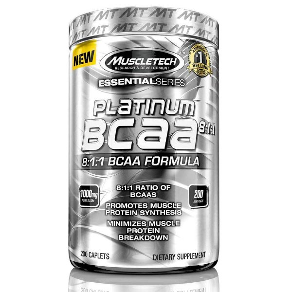 Bcaa 8:1:1 Platinum Muscletech  200 Cápsulas