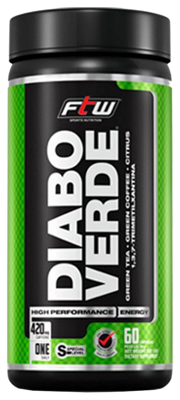 Diabo Verde 60 caps - Termogênico 420 mg - Fitoway