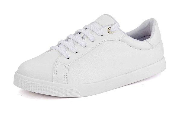 Tênis Caixa Casual Pele Branco