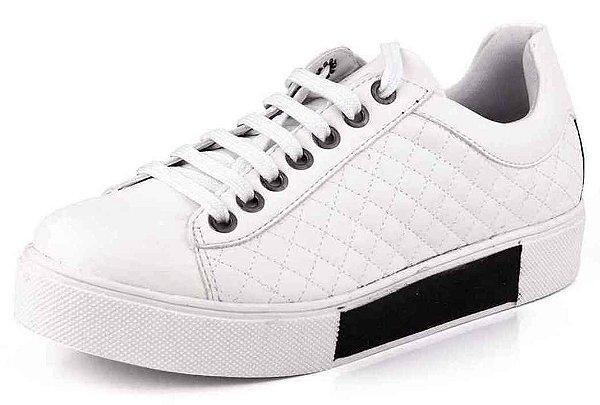Tênis Casual Matelassê New Pele Branco