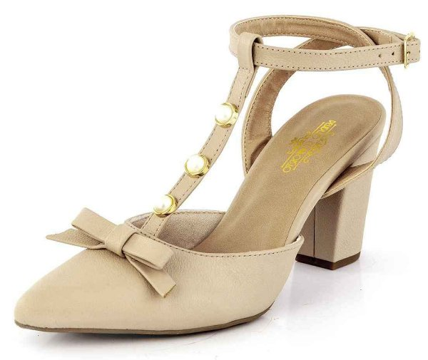 Sapato Scarpin Laço  New Pele Bistrô