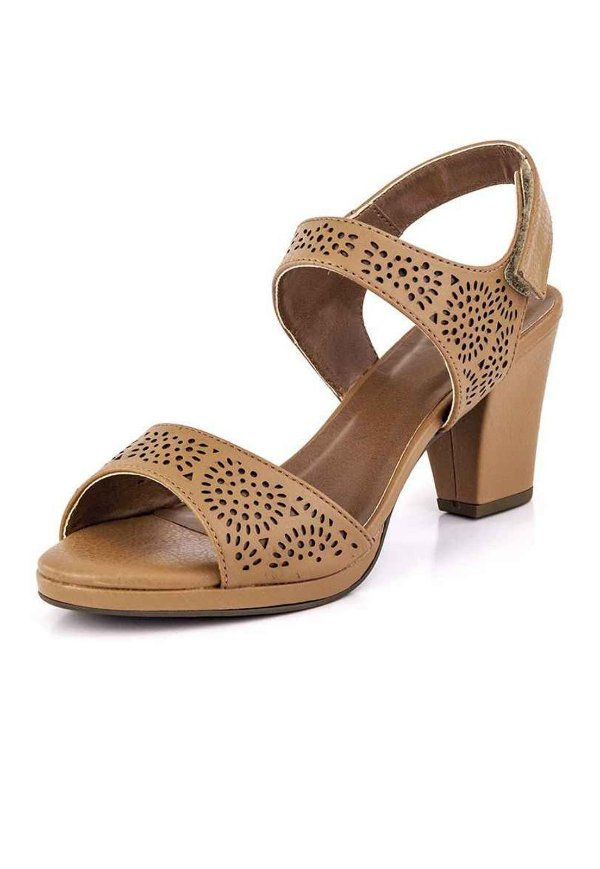 Sandália Meia Pata Velcro New Pele Ambar
