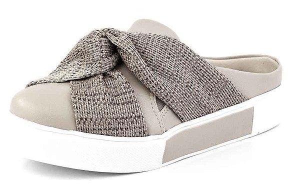 Tênis Slip On Open Laço Croche Natural