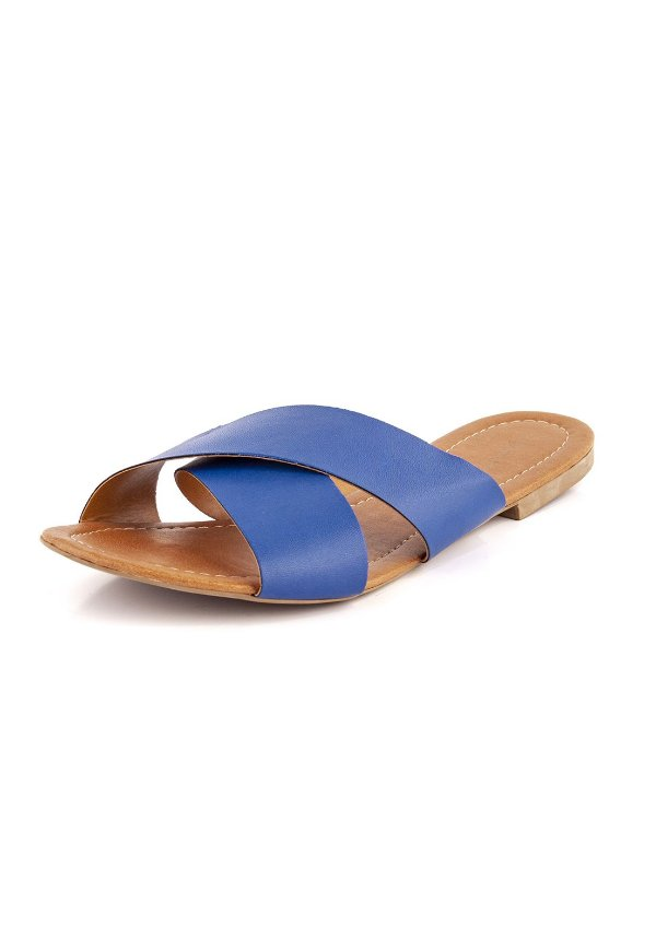 Rasteirinha Luxury Tiras Em X  Azul