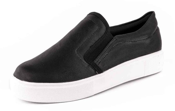 Tênis Casual Slip On New Pele Preto