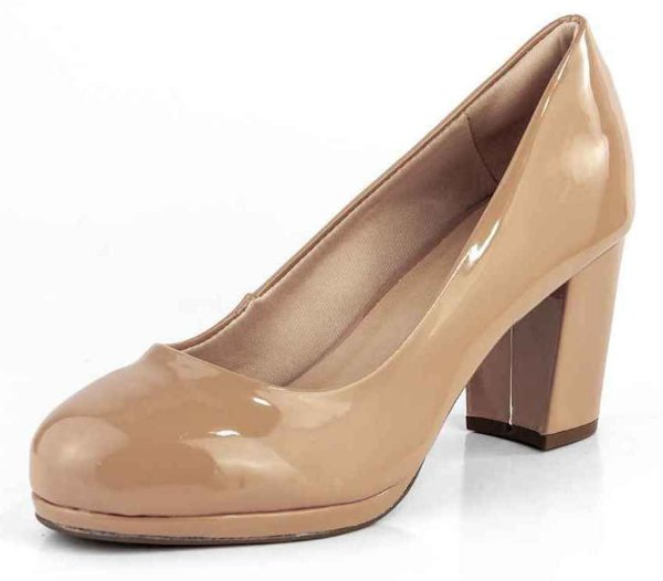 Sapato Scarpin Meia Pata Salto Alto Gamboa Antique