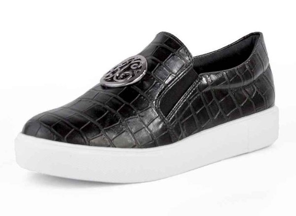 Tênis Slip On Bc Croco Preto
