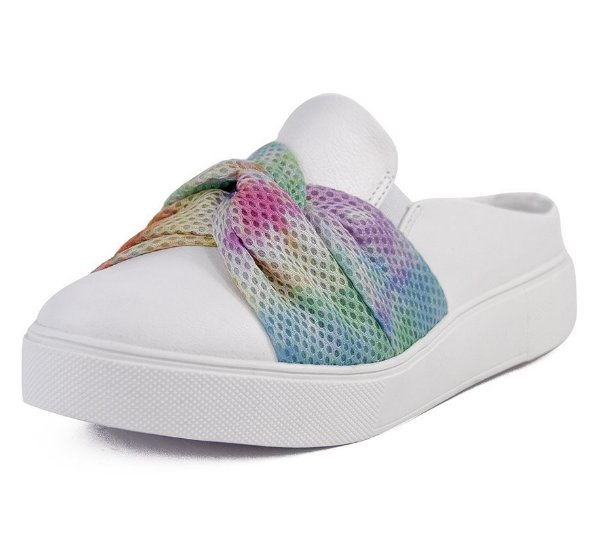 Tênis Slip On Laço Em Croche Tie Dye  Corpo New Pele Branco