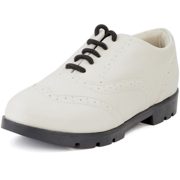 Sapato Oxford Tratorado Napa Off White Branco