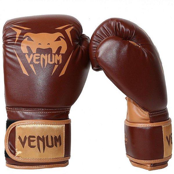 1b77aa084 Luva de Boxe Muay Thai Venum New Contender - Marrom - 14 oz ...