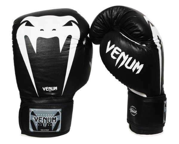 3df724dcb Luva de Boxe Muay Thai Venum Giant Brasil - Preta- 14 oz - Vitrine Sport