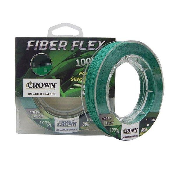 Linha Multifilamento Fiber Flex 4X Crown - 100 m - Div Diâmetros