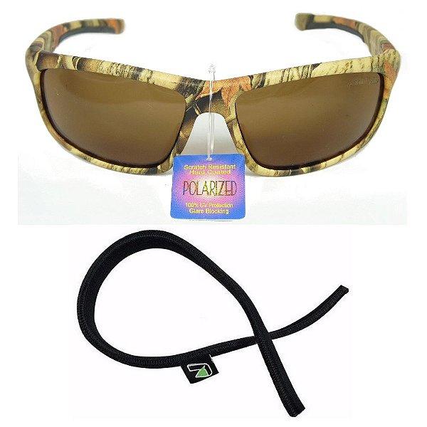 Óculos Polarizado Camuflado Saint Plus (mod 61824) + Segurador Óculos
