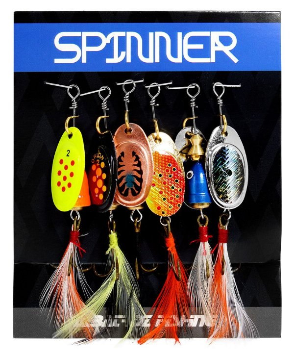 SPINNERS Albatroz Fishing - Cartela com 6 unid.