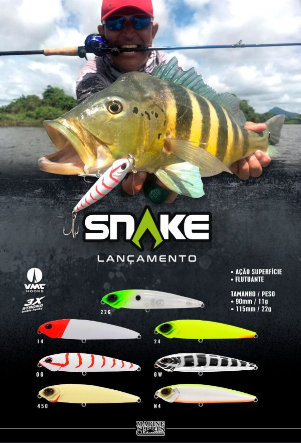 Isca Artificial SNAKE 115 - Marine Sports (superfície)