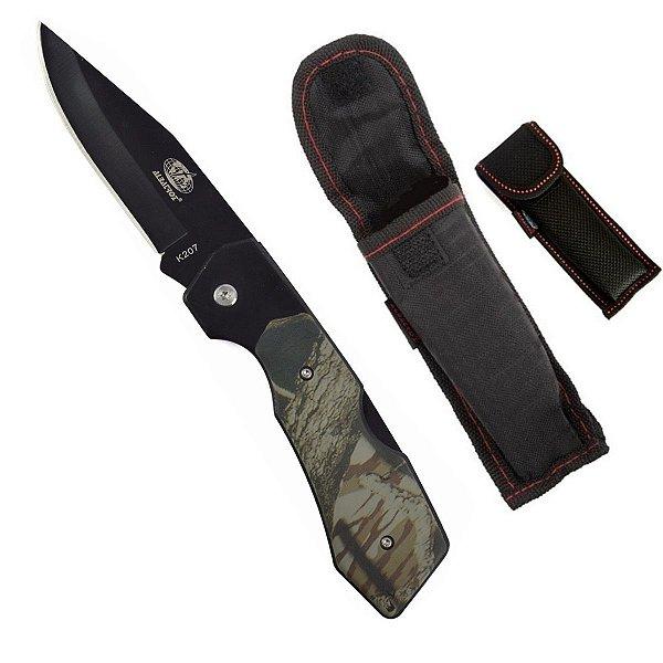 Canivete Faca Tático Albatroz K207 - Dobrável C/ Bainha