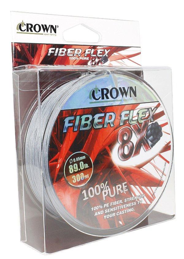 Linha Multifilamento 8x Fiber Flex Carretel 300 M - (div diâmetros)