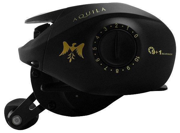 Carretilha Albatroz - Aquila 10 rolam - 7.2:1 E/D - Carbono