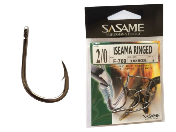 Anzol SASAME Iseama Ringed - Black Niquel - Tamanhos
